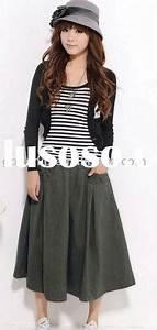 The gallery for --u0026gt; Korean Long Skirt Fashion