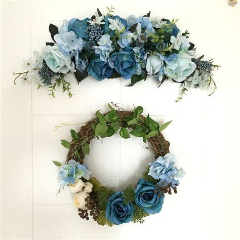 Handmade Simulation Rose Wreath Door Wreath Artificial