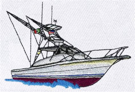 Fishing Boat Designs 1 by Fishing Boat Embroidery Design From Bella Mia Designs
