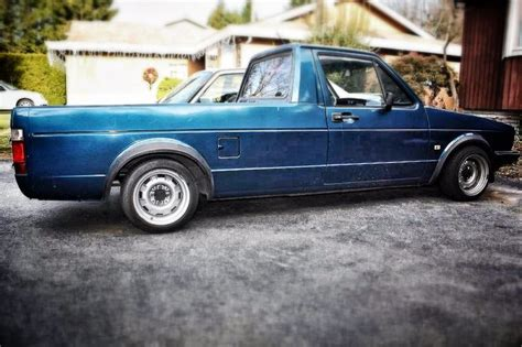 vw rabbit cool slammed vw caddy mk1 rabbit truck cool pics