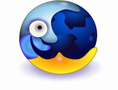 Moon Clip Sun Clipart Crazy Earth Face