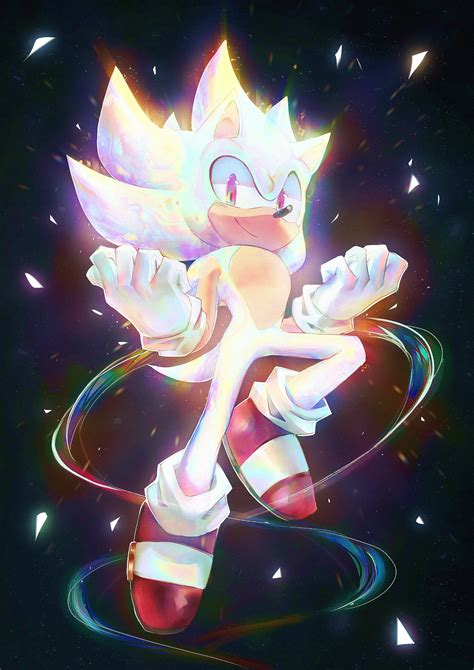 Hyper Sonic (by @spacecolonie) : SonicTheHedgehog