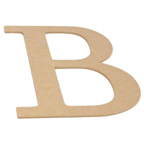 decorative wood letter  ab craftoutletcom