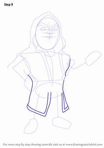 Step by Step How to Draw Wizard from Clash of the Clans ...