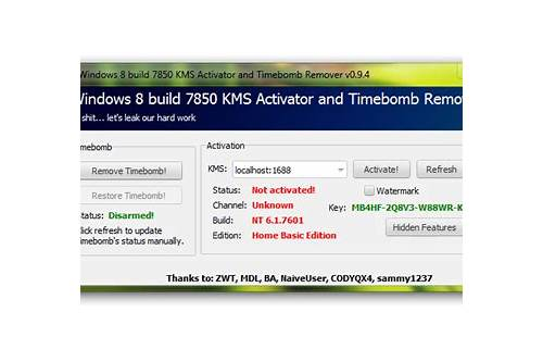 windows 8 build 9200 activator free download