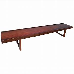 long low profile bench or coffee table in rosewood With long low coffee table