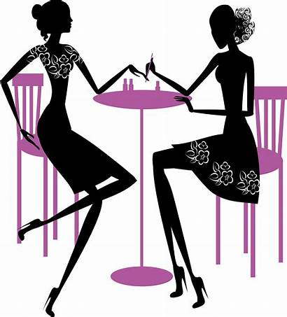 Nail Manicure Tech Clipart Dining Vector Silhouette