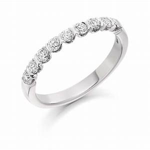 18ct white gold 05ct round brilliant cut diamonds bar set for Vintage wedding ring settings