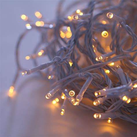 lights com string lights christmas lights warm white 200 led connectable white cable