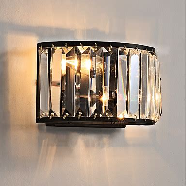 crystal style traditional classic flush mount wall lights living room indoor metal