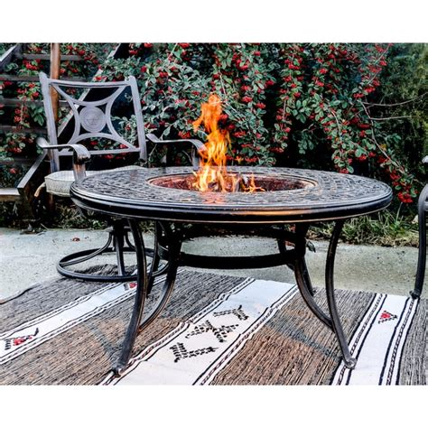 garden moorea aspect black wrought iron table