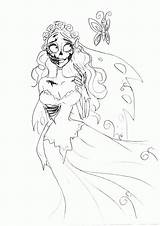 Corpse Bride Coloring Butterfly Pages Ugly Lily Pily Deviantart Sketch Scraps Popular sketch template
