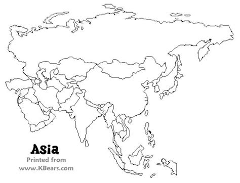 printable coloring maps  kids asia map east asia map