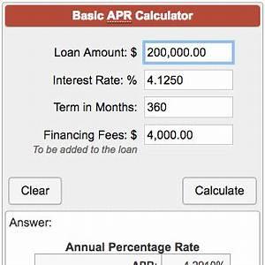 Annual Payment Formula Basic Apr Calculator