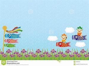 Kodomo-no-hi (Children's Day) Background. Royalty Free ...