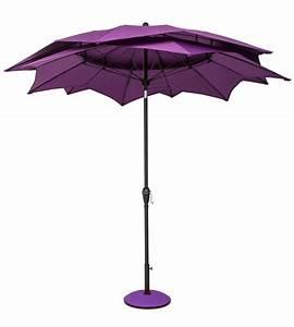 Norfolk Leisure 27m Round Lotus Garden Parasol Purple