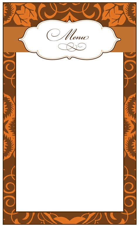 printable food border designs images menu borders