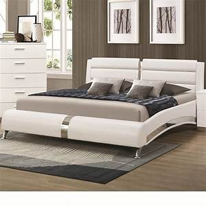 coaster 300345kw silver california king size wood bed With furniture and mattress warehouse king