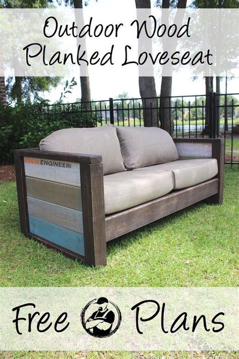 wood plank loveseat outdoor loveseat outdoor furniture