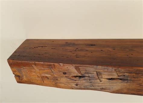 pine shelf 978 48 quot x 6 25 quot d x 5 quot h reclaimed floating wood shelf