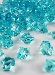Aqua transparent decorative Acrylic glass like stone rocks
