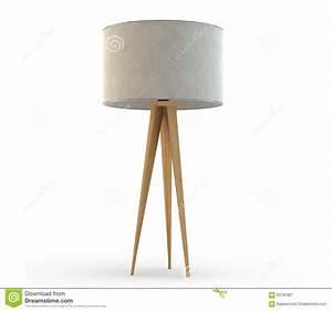 Wood tripod lamp stock image image of light wood tripod for Floor lamp wooden legs