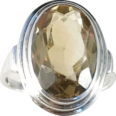 austrian 935 silver citrine deco 1930s ring from antiquesilverboxes on ruby