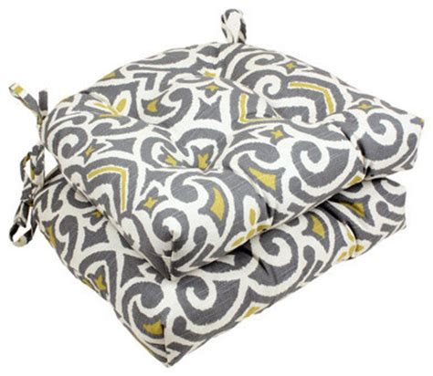 pillow gray greenish yellow damask reversible