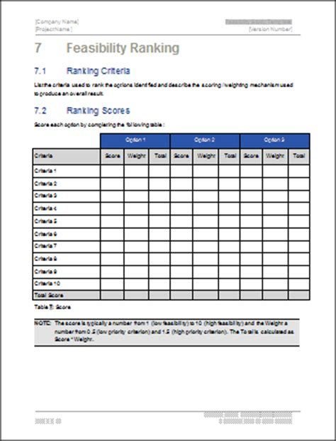 study template word feasibility study ms word template instant