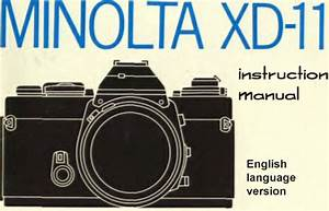 Minolta Xd11 Xd7 Xd Instruction Manual  U0026 Illustrated User Guide