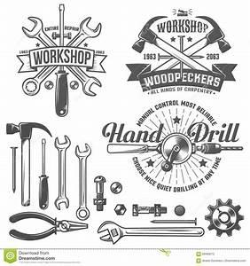 Workshop logo stock vector Illustration of shop, stamp