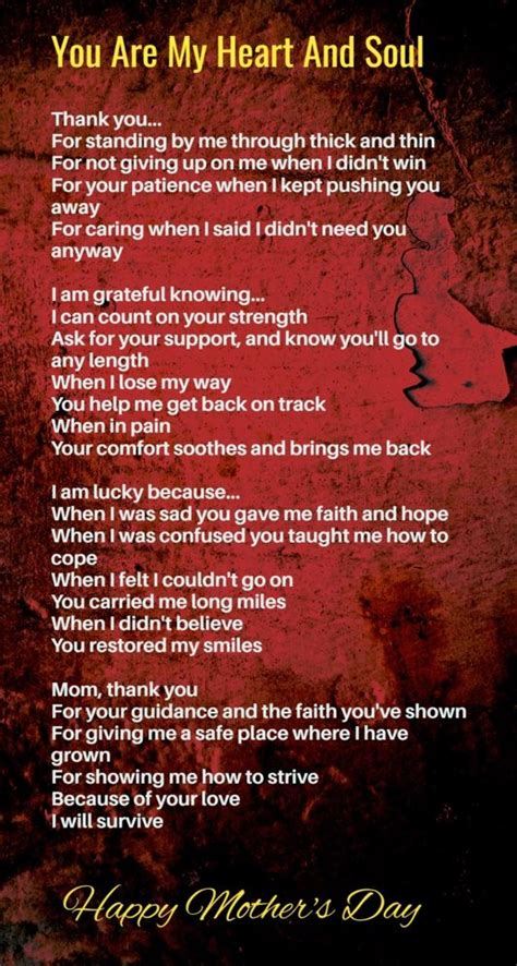 mothers day poem    cry happy mothers day