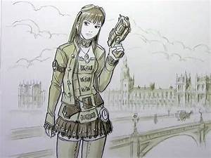 Mark Crilley demonstrated how to draw steampunk characters ...
