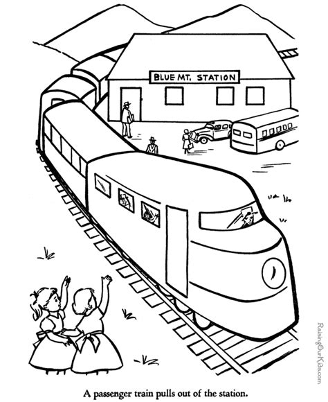 HD wallpapers coloring book pages trains