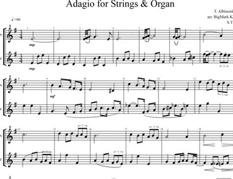 Adagio For Strings & Organ In G Minor