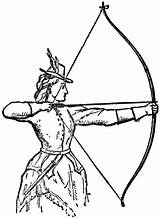 Archery Clipart Clip Archer Bow Woman Bows Coloring Pages Hunting Arrows Shooting Odyssey Draw Arrow Odysseus Drawings 1800s Resource Tattoo sketch template