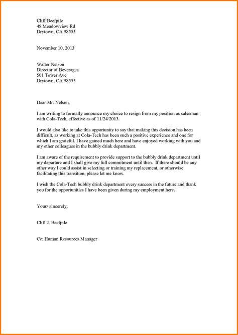 formal resignation letter template sales slip template