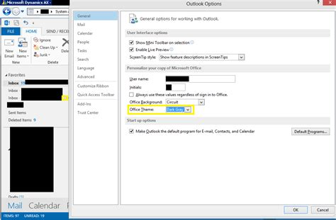 Outlook 2013 Background Color Dax Dude Dynamics Ax How To Change Outlook 2013 S
