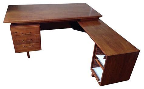 mid century desk l l shaped mid century desk 1 000 est retail 300 on