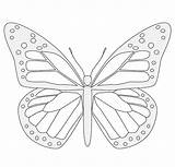 Butterfly Templates Sundial Template Coloring Pages Printable бабочек sketch template