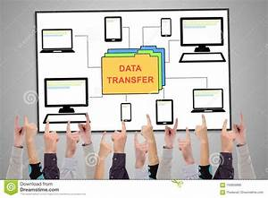 Data Transfer Concept On A Whiteboard Stock Photo - Image ...