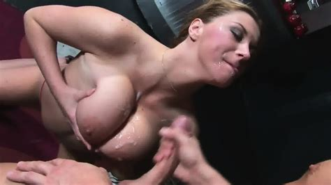 Cum On Her Big Tits After Face Fucking Sara Stone Eporner