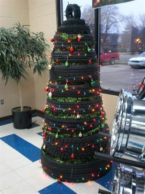 recycling tires  winter decorating original handmade
