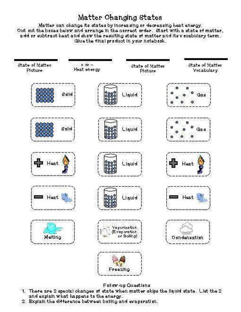 phases of matter worksheet homeschooldressage com