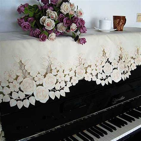 embordery rose piano cover