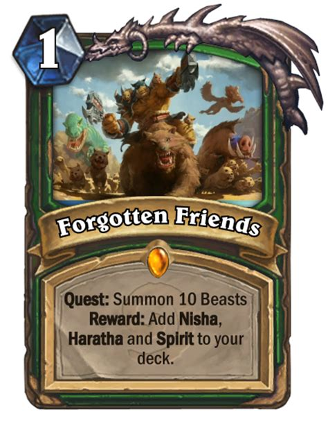 hunter quest card and tokens for un goro expansion fan