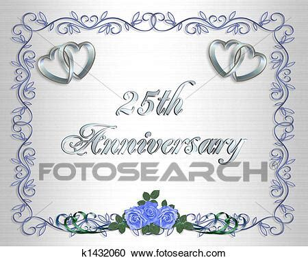 Stock Illustrations of 25th Wedding Anniversary Border