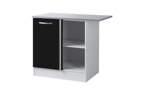 element bas angle cuisine element bas de cuisine d 39 angle noir meuble de rangement