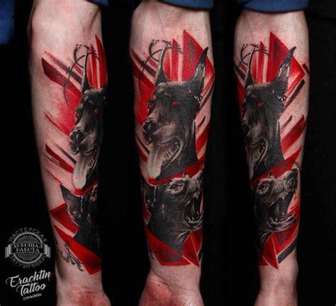 doberman trash polka tattoo  tattoo ideas gallery