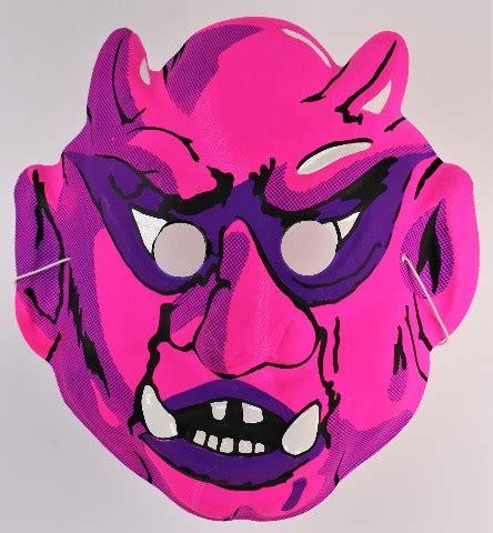 Musical toys, kids tablets, science & discovery toys Vintage Hot Pink Demon Devil Halloween Mask 80's 90's Monster